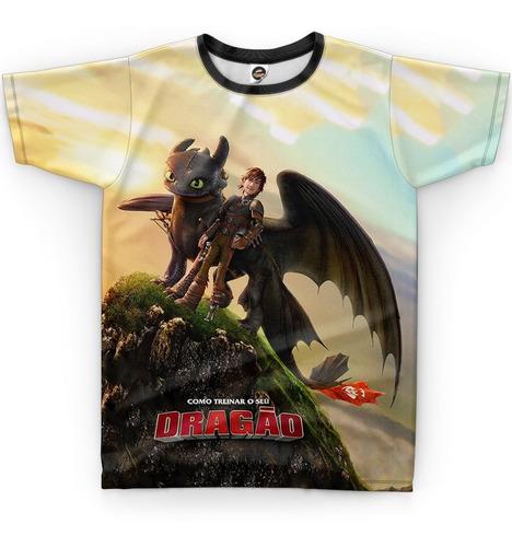 Camiseta Camisa Como Treinar Seu Dragão Infantil Blusa R-003