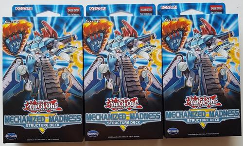 Yugioh! Yu-gi-oh! Set De 3 Decks Mechanized Madness Nuevos!!
