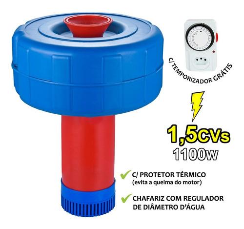 Chafariz Eletrico Para Piscicultura 1,5 Cv Alta Eficiencia Aerador Chafariz Monofásico 1,1 Kw