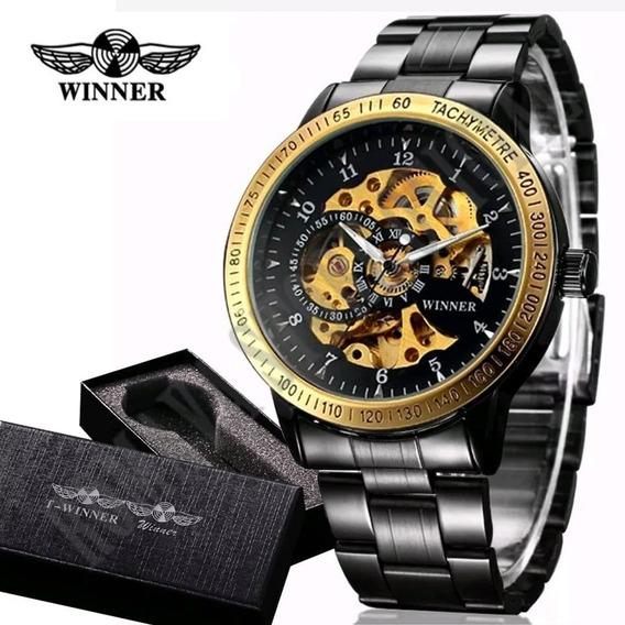 Relógios Masculinos Importado Winner Skeleton Automático