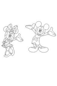 Vetor Desenho Mickey E Minnie Para Corte A Laser