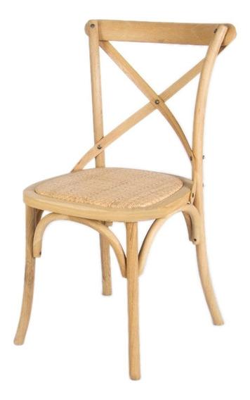Cadeira Cross Katrina Assento Palha Natural Promoção