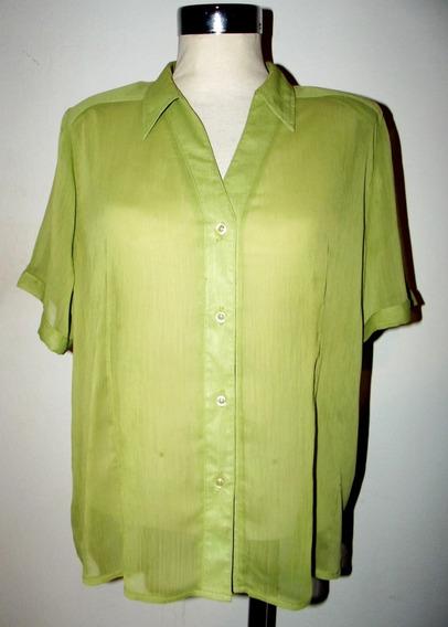 Elegante Camisa Gasa Talle L Verano Impecable Estado