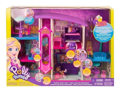 Polly Pocket Mega Casa De Sorpresas 5 Cuartos + Elevador