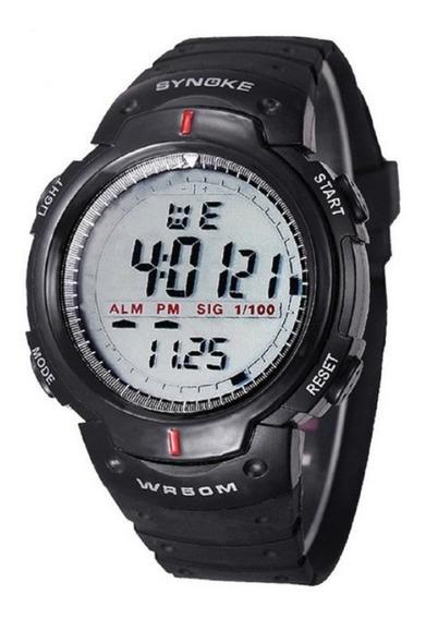Relógio Masculino Esportivo Preto Borracha Caminhada Top !!!