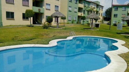 Departamento En Conjunto Habitacional Campo Verde / Temixco - Ifo-100-de