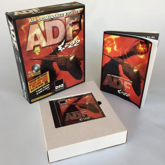 Caixa Berço Manual E Porta Cd Jogo Adf F22 Para Computador