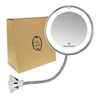 Espejo De Uamento Luz Led Baño Maquillaje Rasurar De Vrhere
