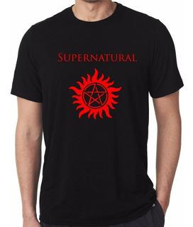 Camiseta Supernatural Ou Sobrenatural Seriado Tv