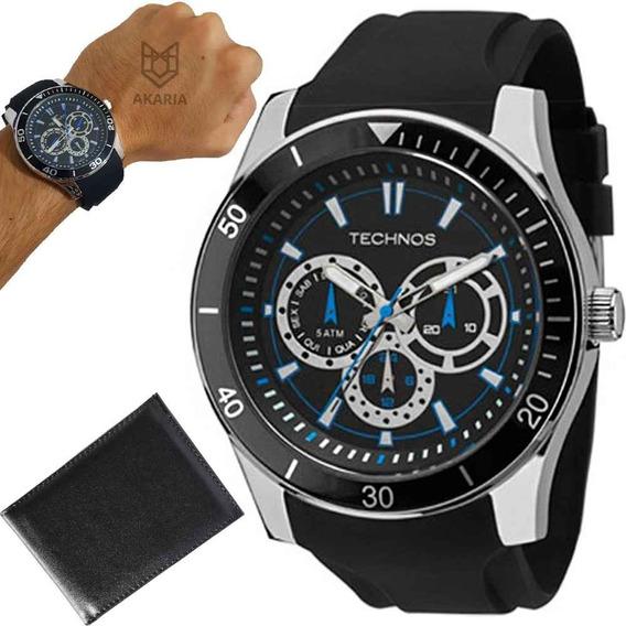 Relógio Masculino Esporte Technos 6p29aiq/8p C/garantia E Nf