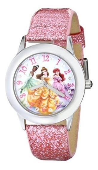 Disney Princess Reloj Rosa Tween Glitz Pile Acero Inoxidabl