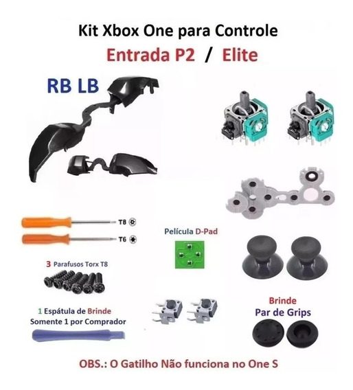 Kit Reparo Controle Xbox One - Tenho Frete Barato Me Peça