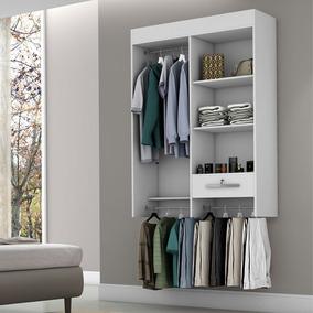 Armario Closet Compact Londres Com Chave Cor Branco