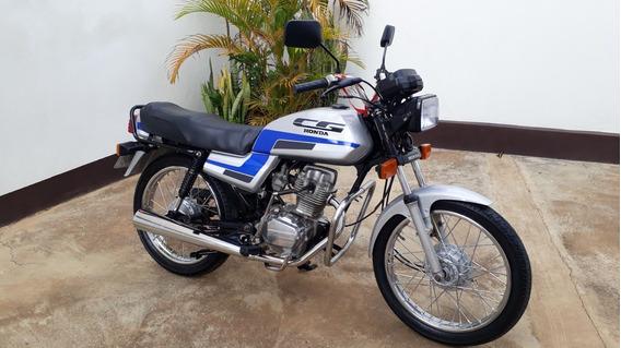 Moto Honda Cg 125, Ano 1989, Cor Prata, Conservada, Relíquia