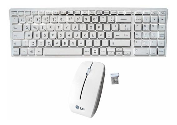 Kit Mouse S/ Fio + Teclado + Receptor Lg V320 V720 Original