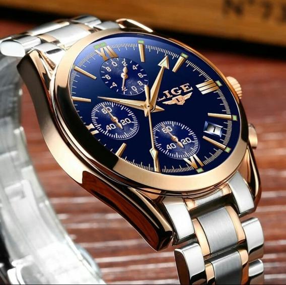 Relógio Lige 9839 Original Promoção