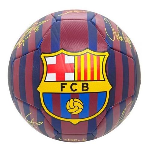 Imagen 1 de 2 de Pelota Futbol Barcelona Deus Drb Nº5 Foam Licencia Oficial
