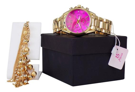 Relógio Maria + Uma Linda Pulseira Grátis