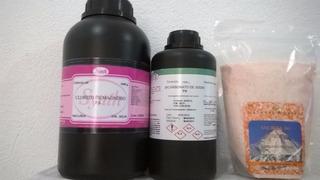 Cloreto Magnésio Pa 1kg + Sal Rosa 1kg +bicarbonato Pa 1kg