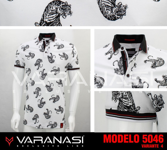 Playera Hombre Tipo Polo 5046 Slim Fit Moda Varanasi
