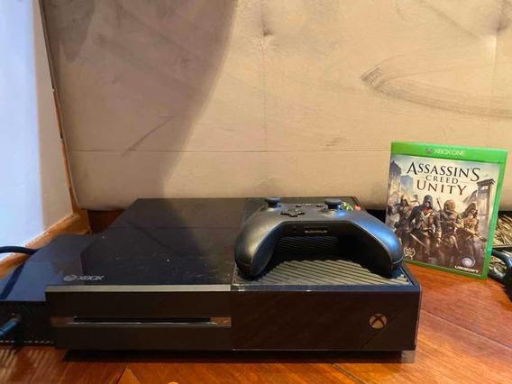 Xbox One 500gb Preto + Controle Com Bateria + Fonte + 1 Jogo