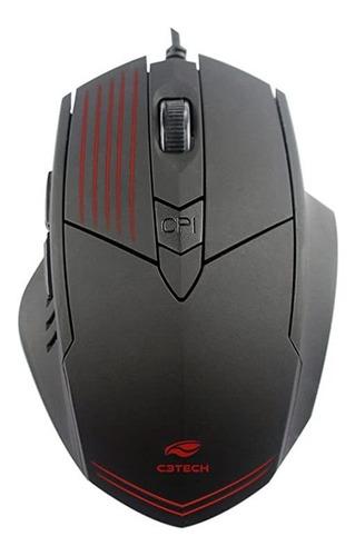 Mouse Gamer Jogo C3tech 2400dpi Preto Mg-10bk