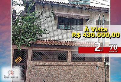 Lindo Sobrado No Forte,com Piscina Em Praia Grande, 70 M², R$430.000,00 À Vista. - Ca0056
