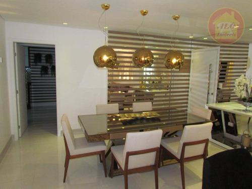 Apartamento Com 3 Dormitórios À Venda, 148 M² Por R$ 1.220.000 - Canto Do Forte - Praia Grande/sp - Ap5551