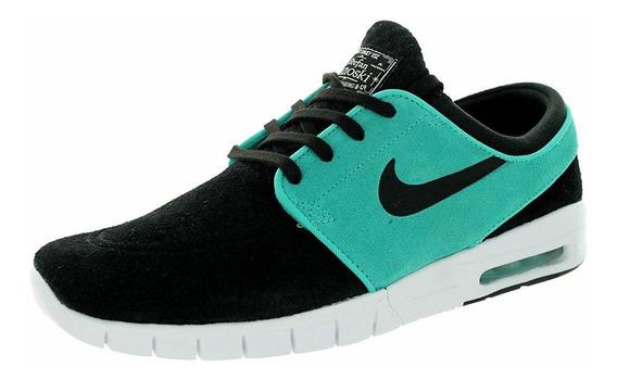 Nike Stefan Janoski Max L De Hombre Skate Zapatos, Negro
