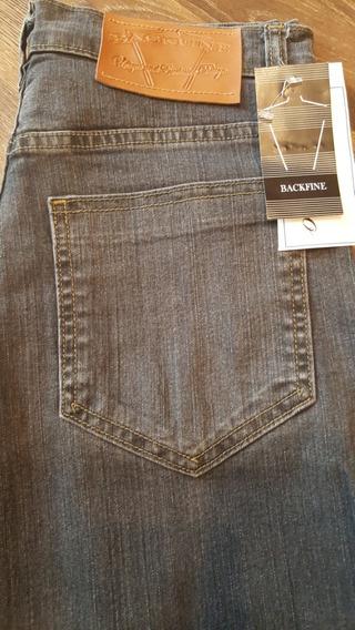 Lote X 10 Pantalones Chupin Hombre Jean Elastizado Azul-gris