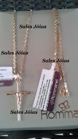 Cordão Masculino +ping Crucifixo Rommanel 530718 540027