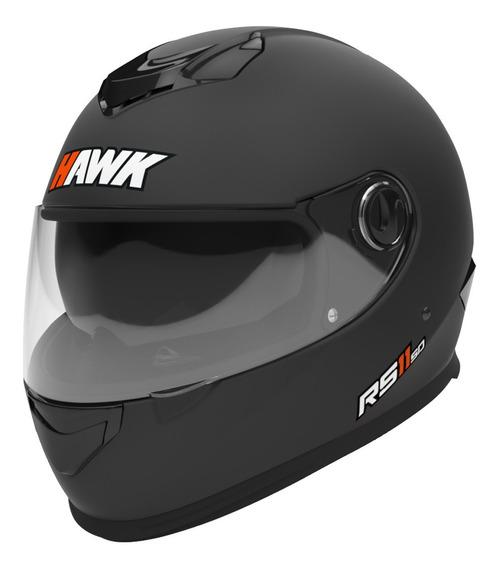 Casco Moto Hawk Rs11 Integral Negro Mate Doble Visor Oficial