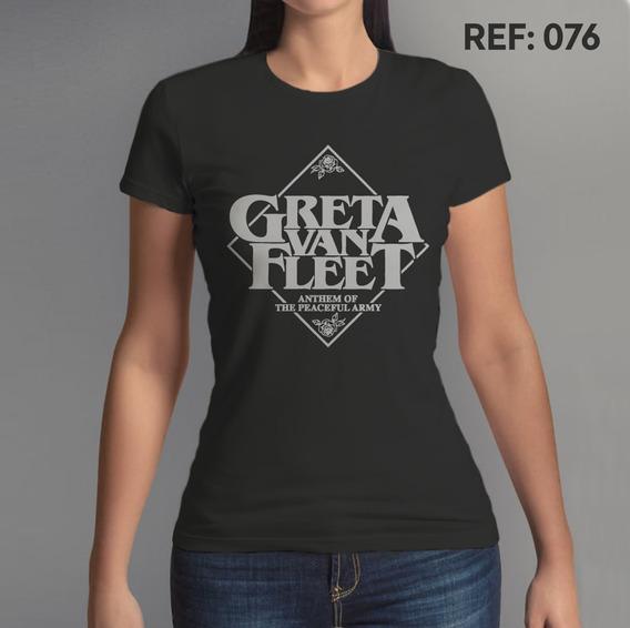 Camiseta Feminina Greta Van Fleet 2 Rock N Roll Banda Musica