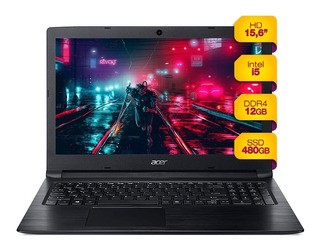 Notebook Acer Intel I5 12gb Ram Solido 480gb Ssd 15 Hd Win10