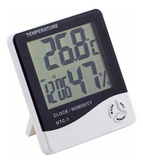 Termómetro Higrómetro Ambiental, Reloj , Alarma