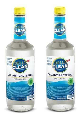 Gel Antibacterial Delli Clean 1 L | 2 Piezas