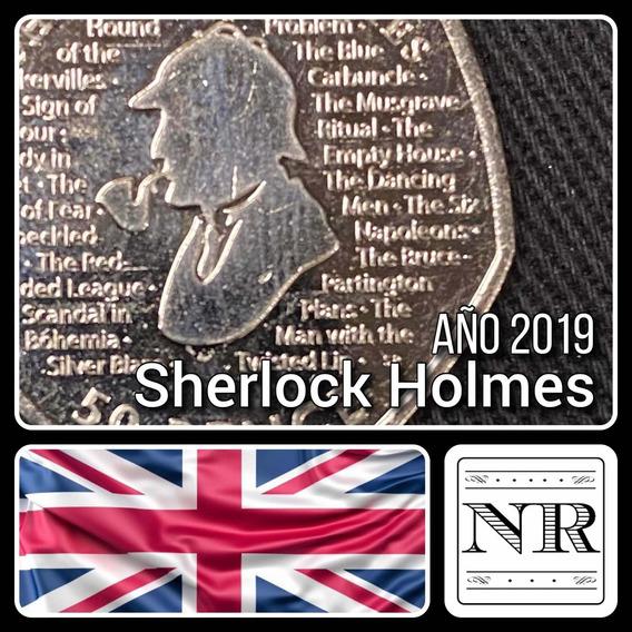 Inglaterra - 50 Pence - Año 2019 - Km #n/d - Sherlock Holmes
