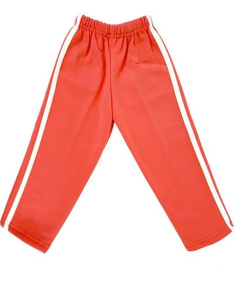 Pants Niño Talla 1 Térmico Afelpado 100% Poliéster Naranja