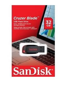 Kit 05 Pen Drive Sandisk 32 Gb Cruzer Blade Original Melhor