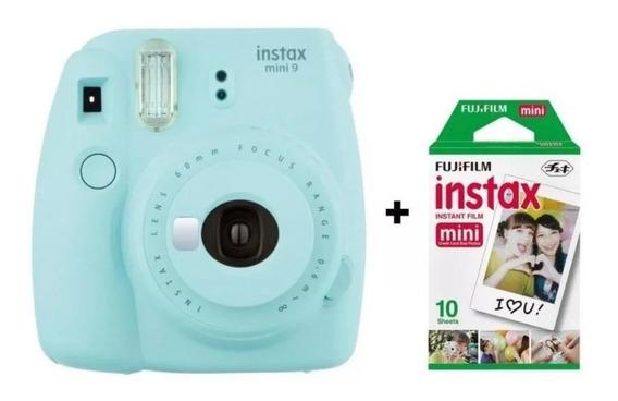 Câmera Fujifilm Instax Mini 9 Azul Gelo + Filme 10 Poses