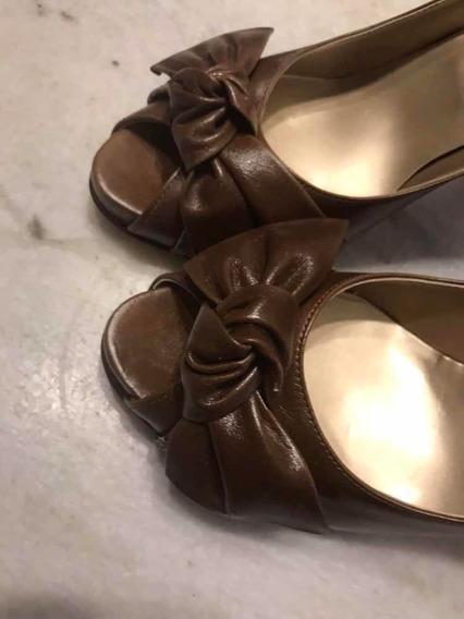 Zapatos Con Plataforma Marrones