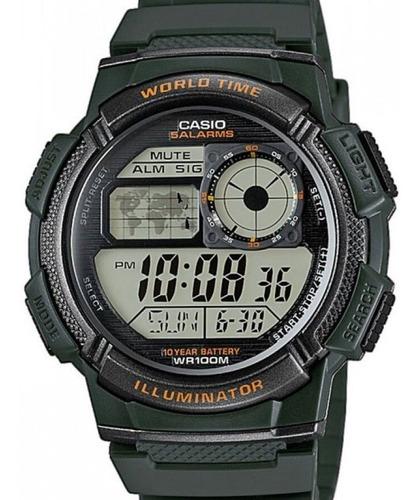Relogio Casio Masculino Word Time - Ae-1000w-3avdf