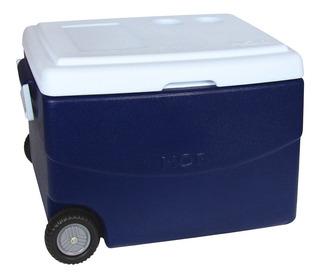 Caixa Térmica Glacial 70 Litros Azul Com Rodinhas Mor