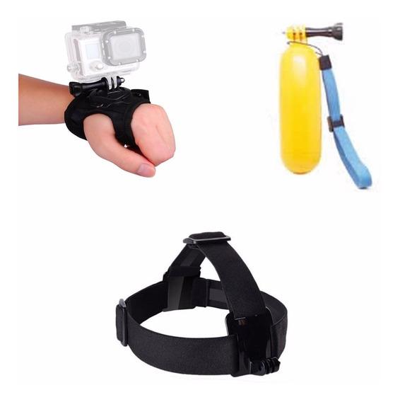 Kit Gopro Hero 3 4 5 Session Suportes Mão Flutuador Cabeça