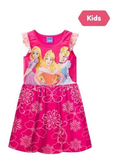 Vestido Princesas Disney Rosa Pink Brandili
