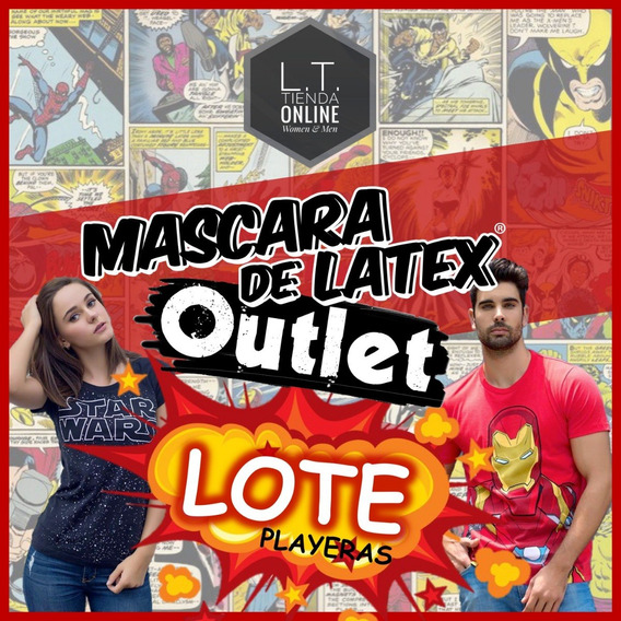 Lote 24 Playeras Mascara De Latex + 24 Shoppingbag Gratis