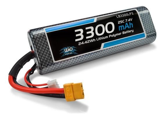 Bateria Lipo 7.4v/2s 3300mah 25c/50c Oval Hardcase - Xt60