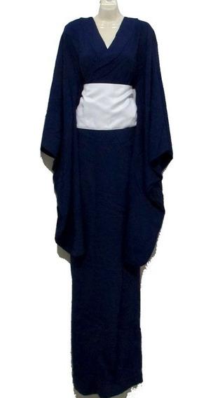 Kimono D Verano Yukatas C/ Obi Azul Oscuro Japón