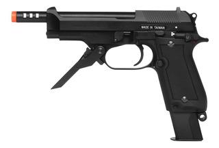 Pistola De Airsoft À Gás Gbb Green Gás M93r Ii Blowback 6mm