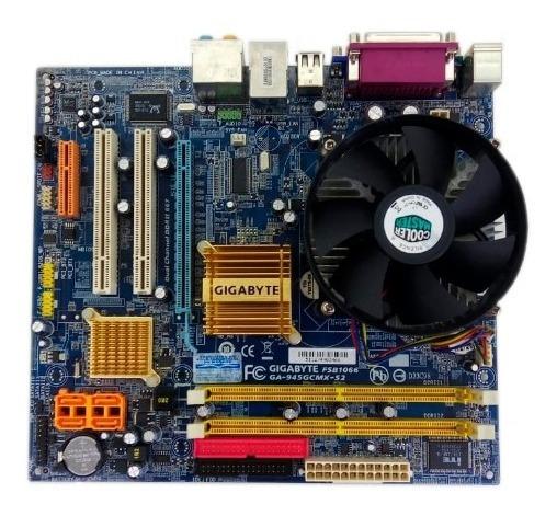 Kit Completo Placa Mãe Gigabyte Ga-945gcmx-s2 Dual Core 1gb
